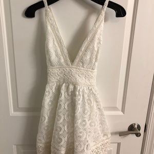 Lovers and Friends White Fit and Flare Dress, Size